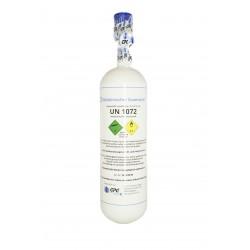Medizinischer Sauerstoff 2 Liter Leichtstahlflasche, med. O2 nach AMG GOX, 200 bar, Tauschflasche