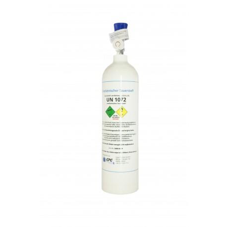 Med. Sauerstoff Alu Flasche 2 Liter Medizinisch nach AMG GOX