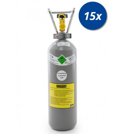 15x CO2 Kohlensäure Flasche 2 kg Getränke E290 Globalimport