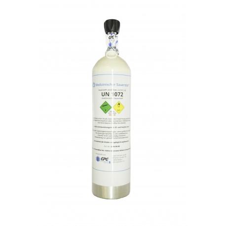 Med. Sauerstoff Aluflasche 1,8 Liter Medizinisch nach AMG GOX