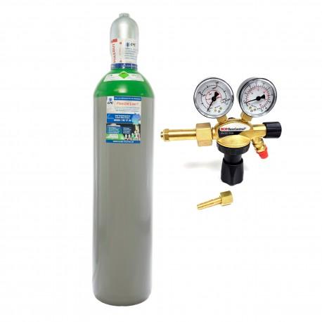 """Argon 4.8 20 Liter Flasche Schweißargon WIG,MIG + Argon/CO2 Schutzgas Druckminderer """"GCE BaseControl"""" Eingang: 200bar Ausgang: 0-24 l/m WIG,MIG,MAG,TIG"""