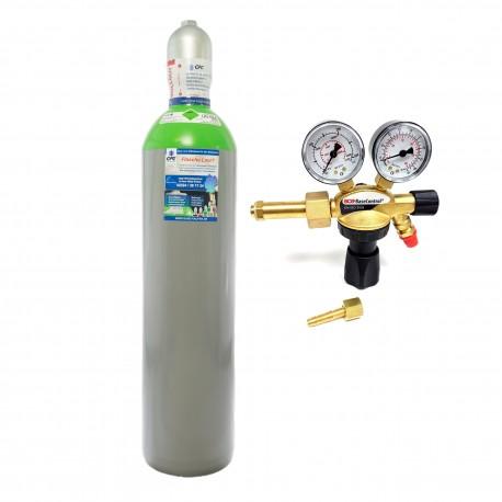"""Schutzgas Mix 18%Co2 82%Argon 20 Liter Flasche + Argon/CO2 Schutzgas Druckminderer """"GCE BaseControl"""" Eingang: 200bar Ausgang: 0-24 l/m WIG,MIG,MAG,TIG"""