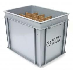 Transportbox für bis zu 20 Soda-Kartuschen (425g/60l-Zylinder) ohne Deckel