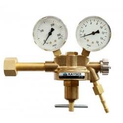"Argon/CO2-Druckminderer ""KAYSER K10"" (0-10 bar), 200 bar, nach DIN EN ISO 2503"