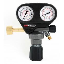 "Argon/CO2-Druckminderer ""GCE ProControl"" (0-30 l/min.), 200 bar, nach DIN EN ISO 2503"