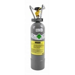 1,5 kg CO2-Flasche (gefüllt mit Kohlendioxid E290), verchromter Trageriff - Restposten