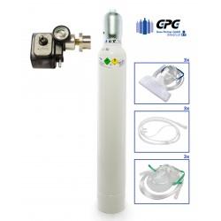 Medizinischer Sauerstoff 10 Liter Leichtstahlflasche mit Druckminderer