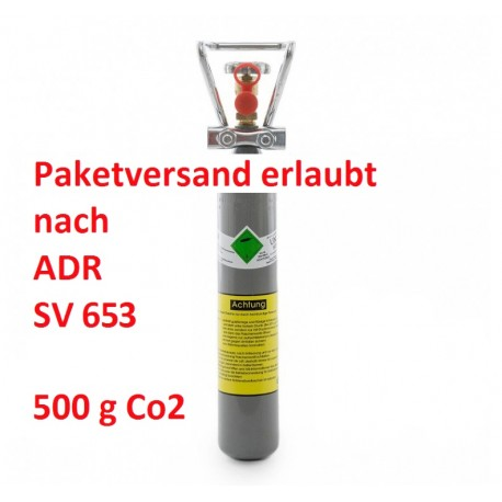 0,5 kg CO2 Flasche Aquaristik Kohlensäure E290 Made in Germany