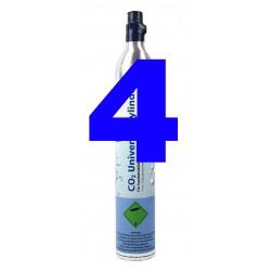 GPG Soda CO2 Universal-Zylinder für Getränkesprudler, 425 g Kohlensäure 4er-Pack