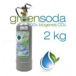 2 kg CO2 Flasche greensoda Kohlensäure für Getränkesysteme, Aquaristik, Zapfanlagen