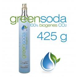 greensoda | Standard-Zylinder für Getränkesprudler, 425 g biogene Kohlensäure für bis zu 60 Liter Sprudelwasser