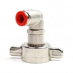 Stecknippel 90° für Kohlensäureanschluss/CO2-Schlauch (8 mm) an Bier-Zapfanlagen