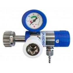 "Sauerstoff Druckminderer (O2 Med.) MediSelect 25 ""GCE"" langer Anschlussbolzen mit Druckausgang ""Schnellverbindung"""