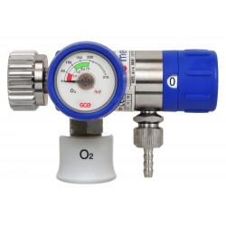 "Sauerstoff Druckminderer (O2 Med.) MediSelect 25 ""GCE"" kurzer Anschlussbolzen mit Druckausgang ""Schnellverbindung"""