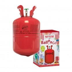 Helium 4.6 / Ballongas – Einwegflasche mit Füllnadel für Latex-/Folienballons OHNE Ballons