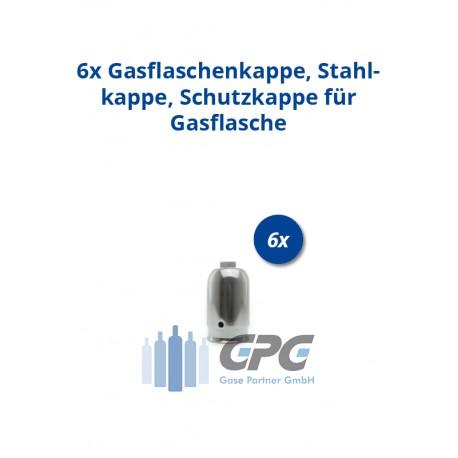 Mengenpaket: 6xGasflaschenkappe, Stahlkappe, Schutzkappe für Gasflasche