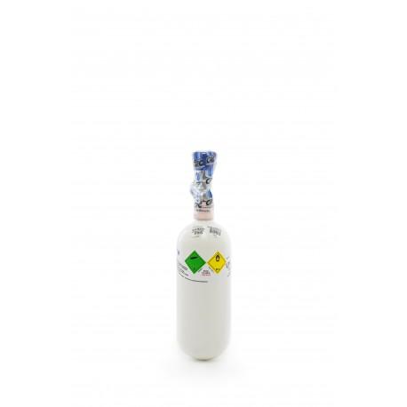 Gasflasche, Med. O2 - Sauerstoff Medizinisch nach AMG 0,8 Liter/ C 0,8