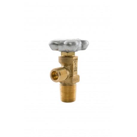 """Mischgas-Restdruckventil (RPV) W21,8 x 1/14"""", 25E, DIN 477 Nr.6 (Messing) 200 bar"""