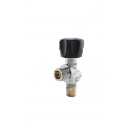 """Kohlensäure-Restdruckventil (RPV), W21,8 x 1/14"""" 17E, DIN 477 Nr.6 (Messing-verchromt) 200 bar"""